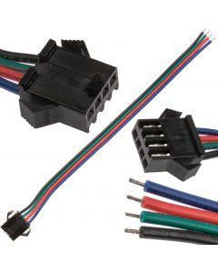 Złączka do Taśm LED RGB męska 12mm 4-PIN Jednostronna z Przewodem