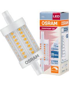Żarnik LED R7S 8W 75W 1055lm OSRAM 2700k 78MM ściemnialny