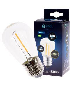 Żarówka LED E27 FILAMENT ST45 1,5W = 15W 150lm 2700K DO GIRLANDY Eko-Light