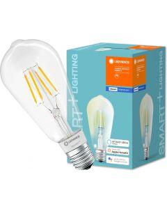 Żarówka LED E27 SMART+ 5,5W 650lm Ciepła 2700K Edison ściemnialna LEDVANCE Bluetooth