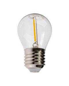 Żarówka LED E27 G45 1,3W 55lm 3000K Ciepła 360° Filament KOBI do Girlandy