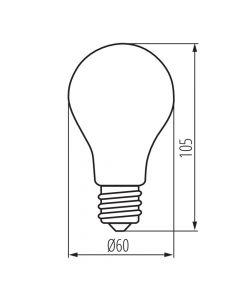 Żarówka LED E27 A60 8W = 75W 1055lm 6500 Zimna 320° Filament KANLUX XLED