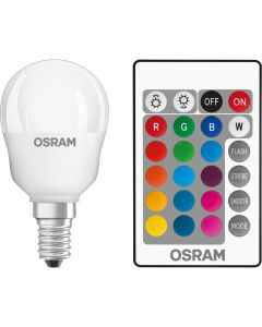 Żarówka LED KULKA E14 4.5W = 25W 250lm OSRAM STAR RGBW + PILOT