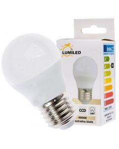 Żarówka LED E27 P45 7W = 65W 650lm 4000K Neutralna 180° LUMILED