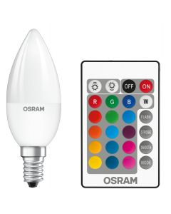 Żarówka LED ŚWIECA E14 4,5W = 25W 250lm OSRAM STAR RGBW + PILOT