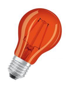Żarówka LED E27 A60 1,6W = 15W 1500K Pomarańczowa 300° OSRAM Star Dekoracyjna
