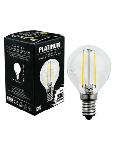 Żarówka LED E14 P45 2W = 23W 230lm 2200K Ciepła 360° Filament POLUX