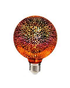 Żarówka LED G95 E27 3,5W POLUX rgb multikolor efekt 3D