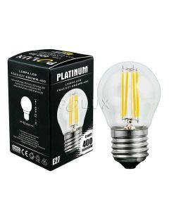 Żarówka Kulka FILAMENT LED E27 4W = 35W 400lm POLUX 3000K