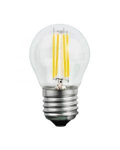 Żarówka LED E27 P45 4W = 35W 400lm 3000K Ciepła 360° Filament POLUX