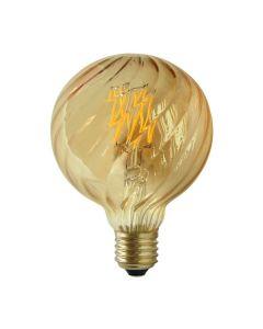 Żarówka LED E27 G95 4W = 38W 450lm 2700K Ciepła POLUX Vintage Amber Dekoracyjna