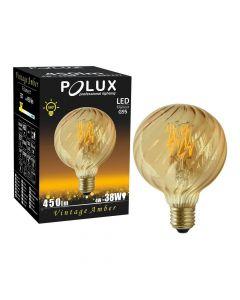 Żarówka DEKORACYJNA Vintage Amber G95 E27 450lm 4W 38W 2700K POLUX Ciepła