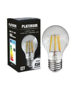 Żarówka LED E27 A60 4W = 40W 450lm 3000K Ciepła 360° Filament POLUX