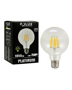 Żarówka LED E27 G95 7,5W = 75W 1055lm 3000K Ciepła 360° Filament  POLUX