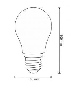 Żarówka LED E27 A60 7W = 60W 806lm 3000K Ciepła 360° Filament POLUX