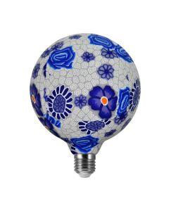 Żarówka LED E27 G125 4W 1900K Ciepła 320° Filament POLUX Folk Blue Dekoracyjna