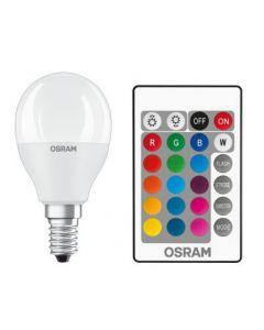 Żarówka LED KULKA E14 5,5W = 40W 470lm OSRAM RGBW + PILOT