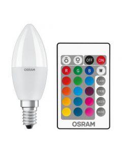 Żarówka LED ŚWIECA E14 5,5W = 40W 470lm OSRAM STAR RGBW + PILOT ściemnialna