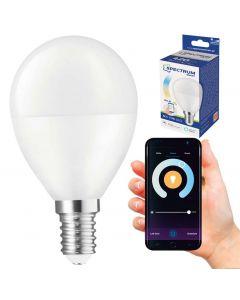 Żarówka LED Kulka E14 5W = 36W 420lm CCT SPECTRUM Smart WiFi Ściemnialna