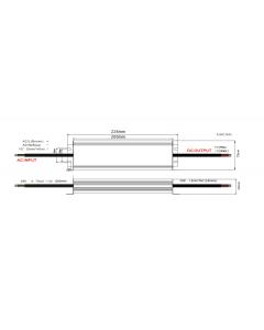 Zasilacz LED ADWS-300-24 ADLER 24V 300W 12,5A HERMETYCZNY