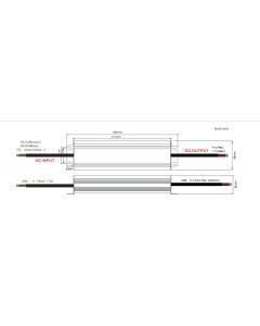 Zasilacz LED ADWS-150-24 ADLER 24V 150W 6,25A HERMETYCZNY