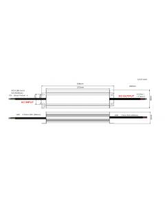 Zasilacz LED ADWS-200-12 ADLER 12V 200W 16,7A HERMETYCZNY