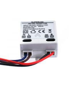 Zasilacz LED szafkowy MINI 6W 12V DC 0,5A