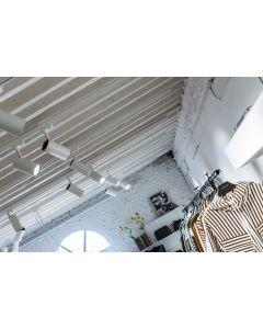 Zestaw Szyna Oświetleniowa Szynoprzewód 2m + 4x Reflektor Szynowy LED Lampa GU10 Biała