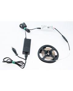 Taśma LED 24W SMD2835 Ciepła IP20 5m + Sterownik TUYA SMART WiFi + Zasilacz gniazdkowy + wtyk