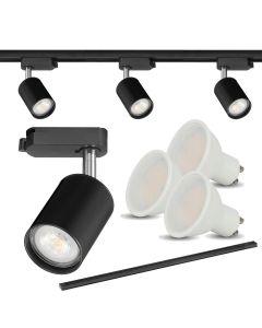 Zestaw 3x Reflektor szynowy + 3x LED GU10 4000K + szyna 150cm