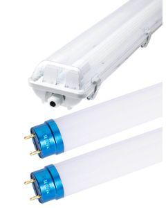 Zestaw Oprawa hermetyczna 2x120 + 2x Świetlówka LED PHILIPS 14,5W T8 840 Neutralna