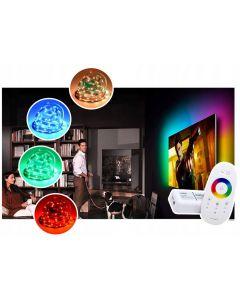 Zestaw Taśma LED 144W 300LED SMD 5050 IP20 10m RGB + Sterownik z Pilotem + Zasilacz + złączki