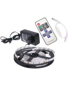 Zestaw 3w1 Taśma LED 4,8W/1m 5m IP20 60LED SMD 2835 + Zasilacz + Ściemniacz Pilot