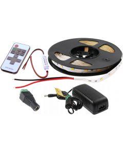 Zestaw Taśma LED 24W SMD2835 300LED 5m NEUTRALNA Sterownik + Zasilacz KOMPLET