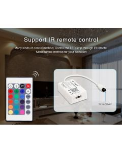 KONTROLER sterownik do taśm LED Wi-Fi Mini RGB + pilot IR Mi-Light - YL1S