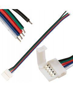 Złączka do Taśm LED RGB+W 12mm 5-PIN Jednostronna z Przewodem