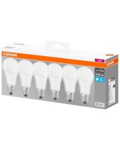 Zestaw 6x Żarówka LED E27 A60 10W = 75W 1055lm 4000K OSRAM BASE