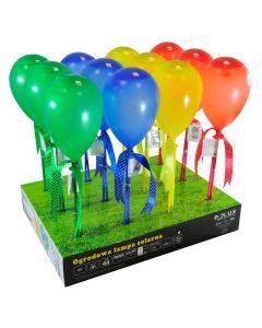 Zestaw 12x Lampa ogrodowa LED solarna BALONIKI wbijana zielona niebieska żółta czerwona Polux