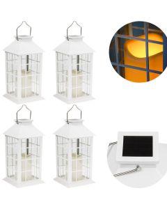Zestaw 4x Lampa Ogrodowa LED Solarna Wbijana LATARENKA 27cm Biała Polux